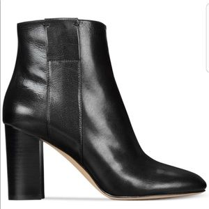 Nine West   Why Not Black Leather Ankle Boot 9